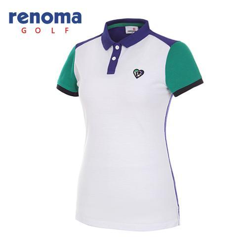 [레노마골프]여성 하트 카라 반팔 티셔츠 RWTPG6113-100_G