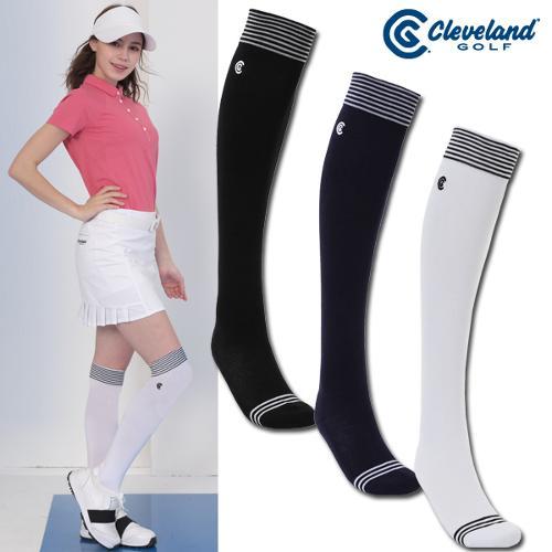 [클리브랜드골프] 쿠셔닝 상단스트라이프 여성 골프 니삭스/골프양말/골프용품_CGKWKS060