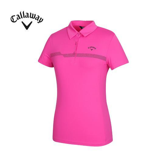 [캘러웨이]여성 프린팅 포인트 반팔 티셔츠 CWTYG6102-403_G