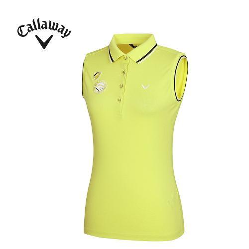 [캘러웨이]여성 패치 장식 카라 민소매 티셔츠 CWTPG6131-204_G