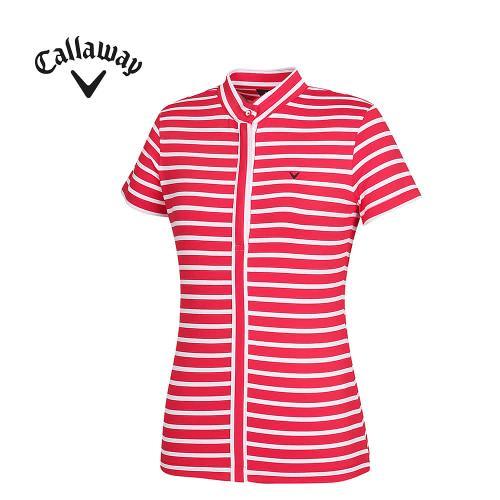 [캘러웨이]여성 스트라이프 반팔 티셔츠 CWTHF6112-500_G