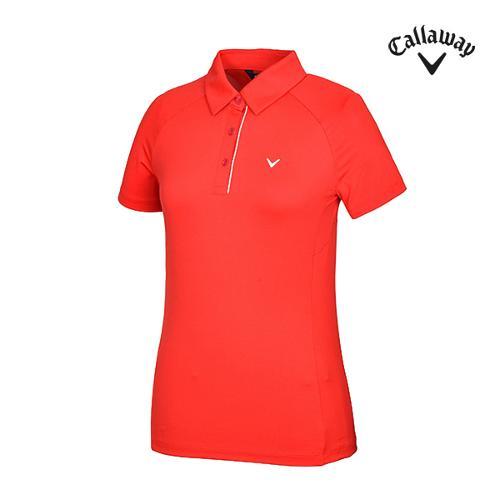 [캘러웨이]여성 래글런 카라 반팔 티셔츠 CWTYG5153-500_G