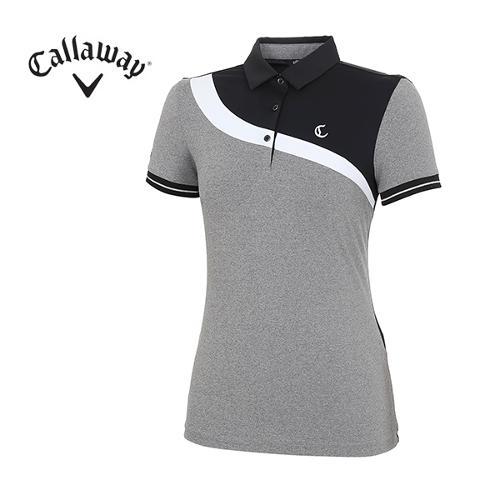 [캘러웨이]여성 모노 커브 포인트 티셔츠 CWTYH6173-199_G