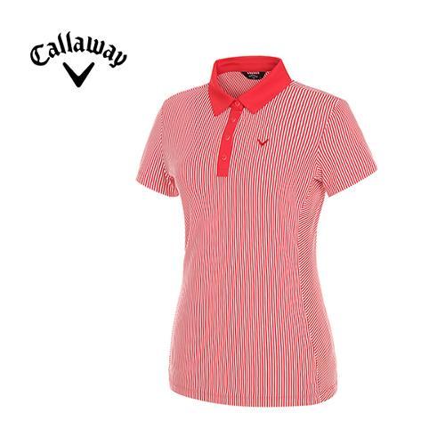 [캘러웨이]여성 플레이 스트라이프 티셔츠 CWTYG6104-500_G