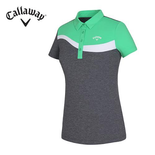 [캘러웨이]여성 사선 컬러 티셔츠 CWTYF6122-804_G