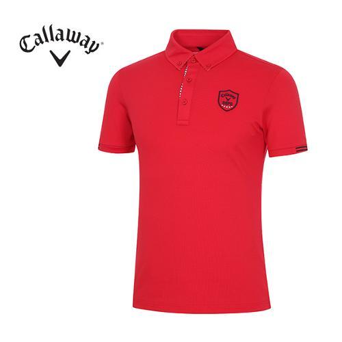 [캘러웨이]남성 베이직 와펜 카라 반팔 티셔츠 CMTYG2101-500_G