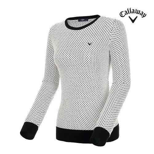 [캘러웨이]19SS 여성 라운드넥 자카드 패턴 스웨터 CWSRI5322-199_G