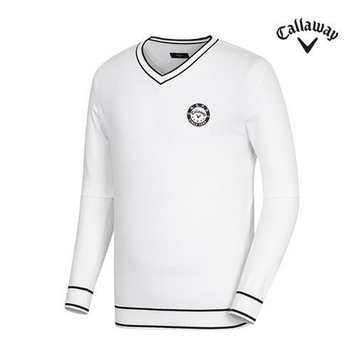 [캘러웨이]남성 배색 포인트 브이넥 스웨터 CMSRG1201-100_G