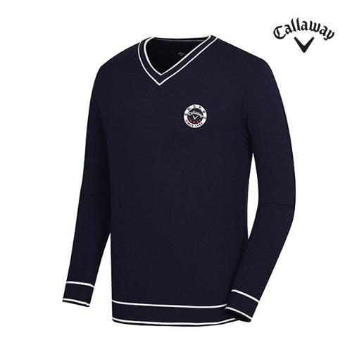 [캘러웨이]남성 배색 포인트 브이넥 스웨터 CMSRG1201-915_G