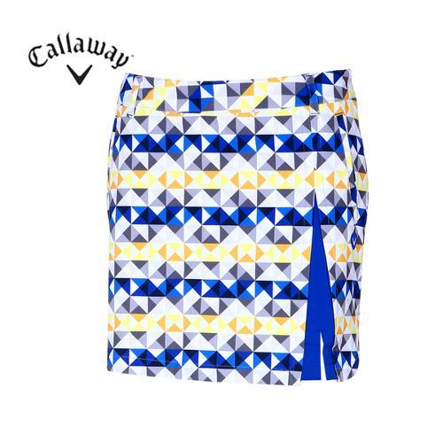 [캘러웨이]여성 기하학 패턴 큐롯 스커트 CWPCF5507-203_G