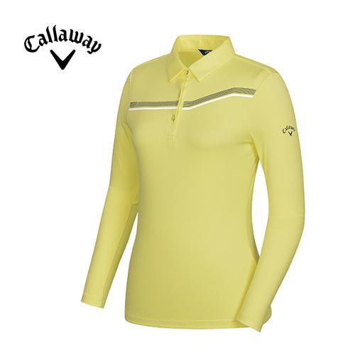 [캘러웨이]여성 띠포인트 카라 티셔츠 CWTYG5101-203_G