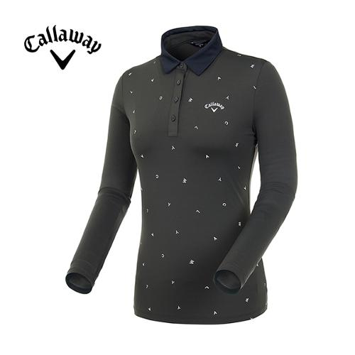 [캘러웨이]19SS 여성 레터링 프린트 긴팔 티셔츠 CWTYI5344-816_G