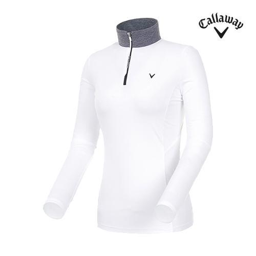 [캘러웨이]19SS 여성 메쉬 믹스 반집업 티셔츠 CWTHI5243-100_G