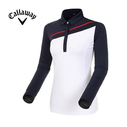 [캘러웨이]19SS 여성 컬러 블록 냉감 소매 티셔츠 CWTYI5245-925_G