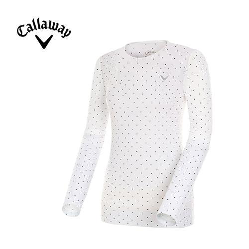 [캘러웨이]여성 도트 레이어 티셔츠 CWTRG6142-100_G