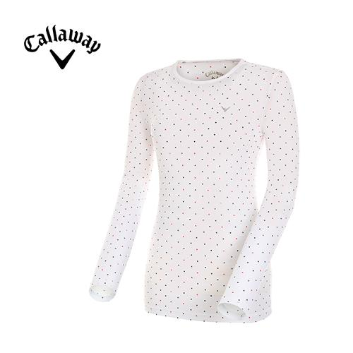 [캘러웨이]여성 도트 레이어 티셔츠 CWTRG6142-500_G