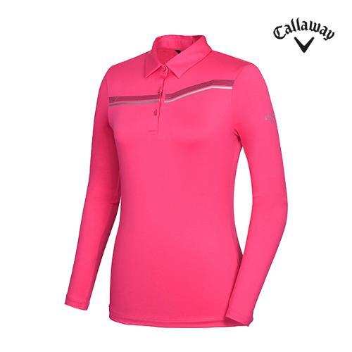 [캘러웨이]여성 띠포인트 카라 티셔츠 CWTYG5101-403_G