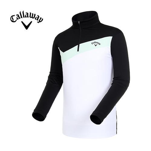 [캘러웨이]19SS 남성 컬러블록 반집업 티셔츠 CMTHI1142-199_G