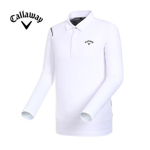 [캘러웨이]19SS 남성 래글런 슬리브 배색 티셔츠 CMTYI1243-100_G