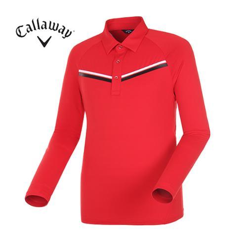 [캘러웨이]남성 띠배색 포인트 카라 티셔츠 CMTYG1151-500_G