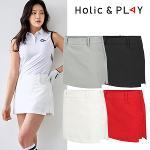홀릭앤플레이 여성 언발 골프 큐롯 스커트(HA2WCU001)