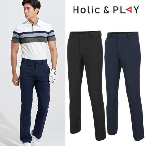 홀릭앤플레이 남성 패턴 밴딩 골프바지 (HA2MPT010)