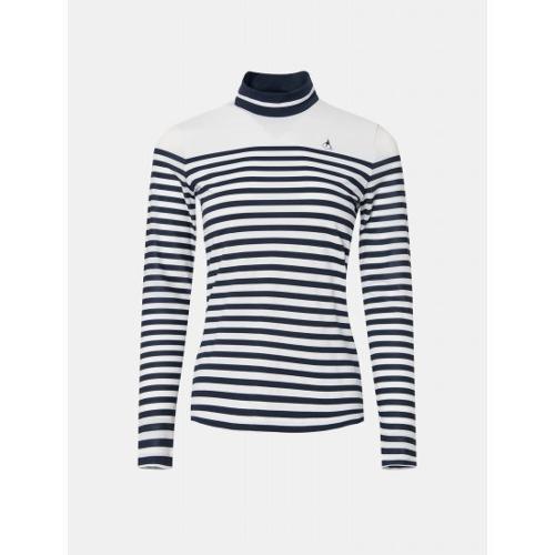 [빈폴골프] 여성 화이트 스트라이프 올인원 티셔츠 (BJ0441A151)