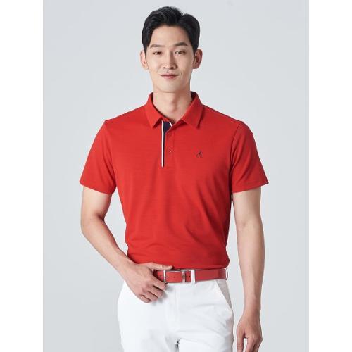 [빈폴골프] 남성 레드 클래식 에센셜 칼라 티셔츠 (BJ0342B236)
