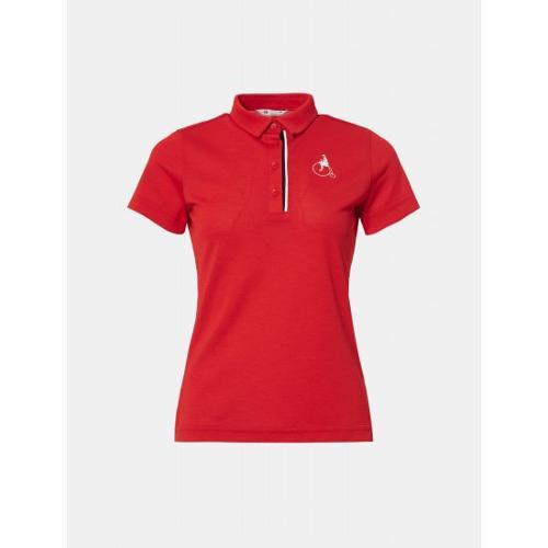 [빈폴골프] 여성 레드 에센셜 빅로고 칼라 티셔츠 (BJ0342A236)
