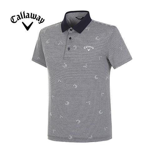 [캘러웨이]19SS 남성 로고 스트라이프 티셔츠 CMTPI2948-925_G