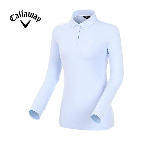 [캘러웨이]19SS 여성 로고 포인트 카라 티셔츠 CWTYI5341-920_G