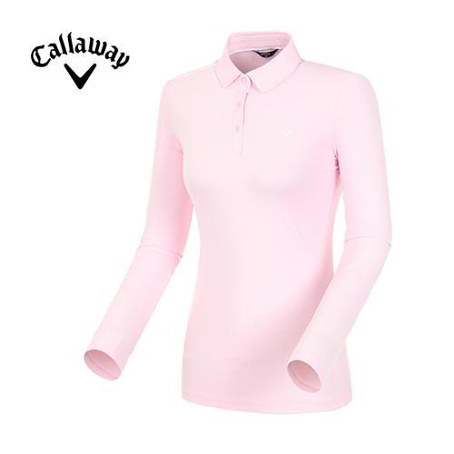 [캘러웨이]19SS 여성 로고 포인트 카라 티셔츠 CWTYI5341-411_G