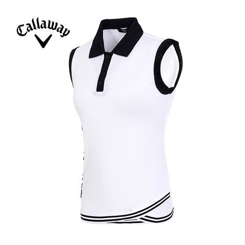 [캘러웨이]19SS 여성 슬리브리스 카라 스웨터 CWSRI6322-100_G