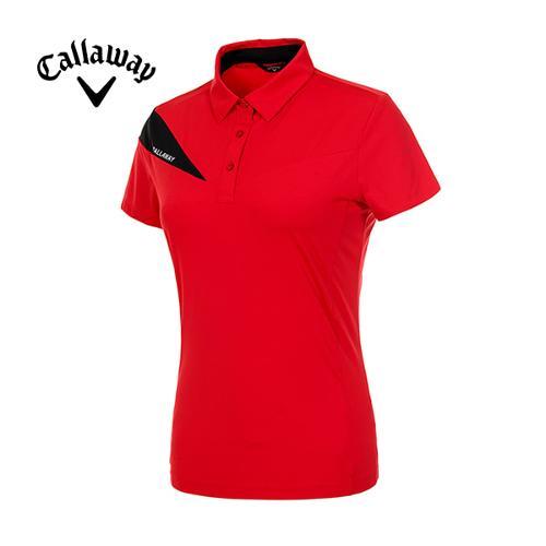 [캘러웨이]19SS 여성 컬러 배색 반팔 티셔츠 CWTYI6142-500_G