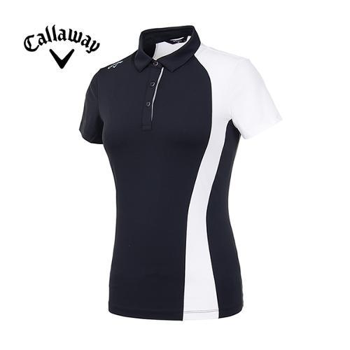[캘러웨이]19SS 여성 컬러블록 반팔 티셔츠 CWTYI6345-199_G