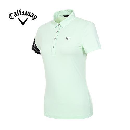 [캘러웨이]19SS 여성 로고 소매 반팔 티셔츠 CWTYI6254-820_G