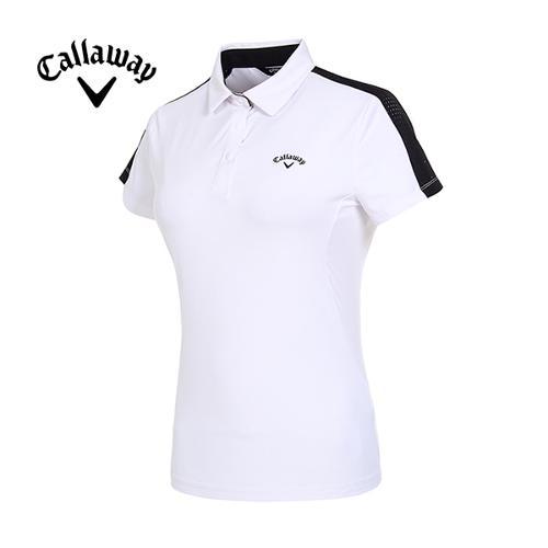 [캘러웨이]19SS 여성 메쉬 라인 반팔 티셔츠 CWTYI6141-100_G