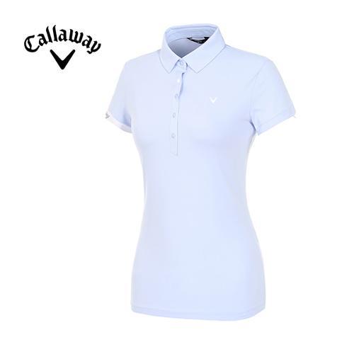 [캘러웨이]19SS 여성 스냅 버튼 반팔 티셔츠 CWTYI6242-920_G