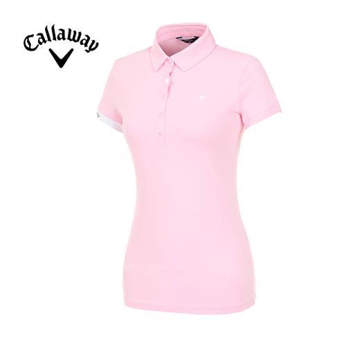 [캘러웨이]19SS 여성 스냅 버튼 반팔 티셔츠 CWTYI6242-411_G