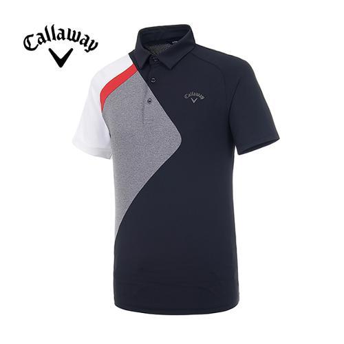 [캘러웨이]19SS 남성 컬러블록 반팔 티셔츠 CMTYI2374-199_G