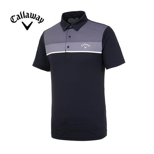 [캘러웨이]19SS 남성 컬러블록 반팔 티셔츠 CMTYI2260-199_G