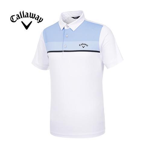 [캘러웨이]19SS 남성 컬러블록 반팔 티셔츠 CMTYI2260-100_G