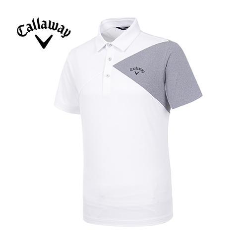 [캘러웨이]19SS 남성 언발란스 컬러반팔 티셔츠 CMTYI2249-100_G