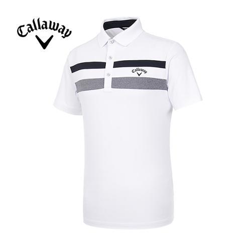 [캘러웨이]19SS 남성 스트라이프 반팔 티셔츠 CMTPI2348-100_G