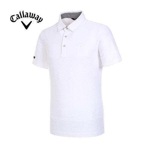 [캘러웨이]19SS 남성 엠보 패턴 반팔 티셔츠 CMTYI2368-100_G