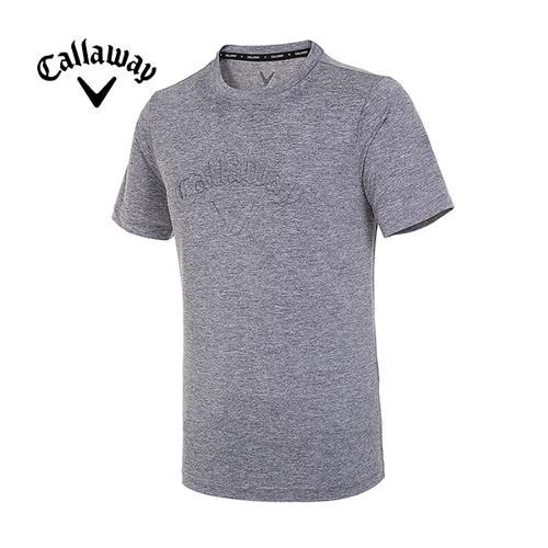[캘러웨이]19SS 남성 엠보 로고 반팔 티셔츠 CMTRI2351-193_G