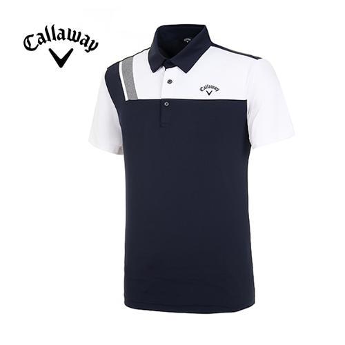 [캘러웨이]19SS 남성 컬러 블록 반팔 티셔츠 CMTYI2371-925_G