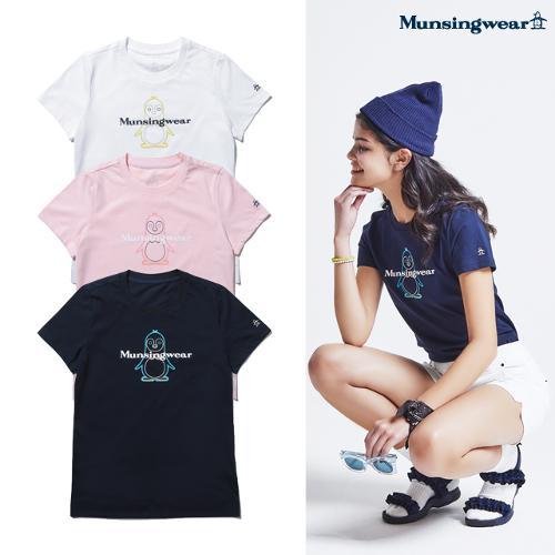 [먼싱웨어] 먼싱 여성 피트 라운드 반팔 티셔츠 (M0222LTS4C)