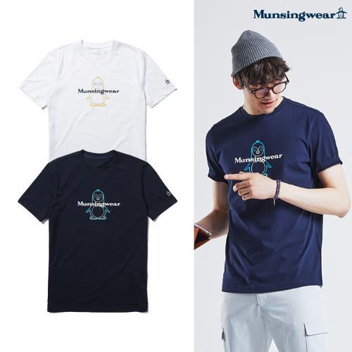 [먼싱웨어] 먼싱 남성 피트 라운드 반팔 티셔츠 (M0221MTS4C)