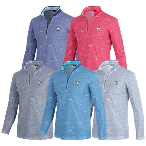 [KRSPORTS] 포인트카라 컬러집업 스판 골프 긴팔티셔츠